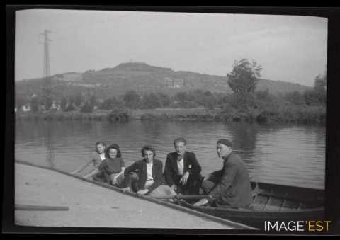 En barque (Pont-à-Mousson)