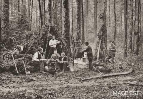 Repas de bûcherons (Vosges)