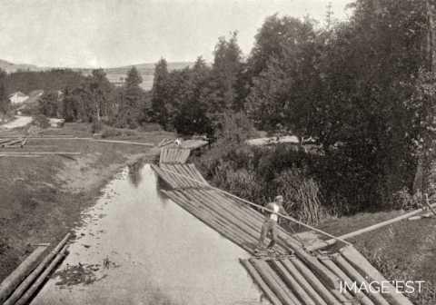 Flottage du bois (Vosges)