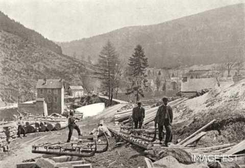 Montée des schlittes (Vosges)