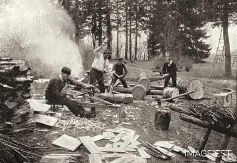 Fabrication de bardeaux (Vosges)