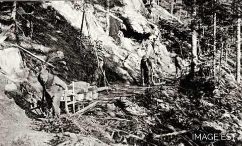 Transport de grès (Vosges)