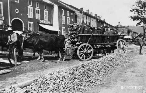 Transport de bois (Celles-sur-Plaine)