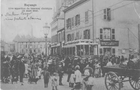 Inauguration du tramway électrique (Hayange)
