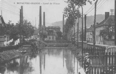 Canal de l'usine de Wendel (Moyeuvre-Grande)